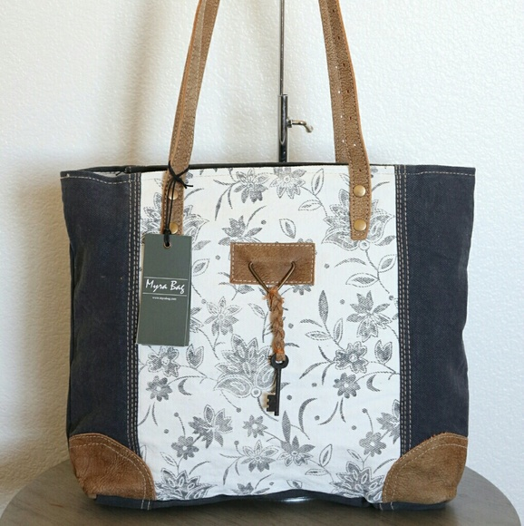 Myra Bag Bags New Myra Bag Upcycled Canvas Tote Bag Large Purse Poshmark When you hang out with this bag, it is a good choice for you to reveal your noble temperament. new myra bag upcycled canvas tote bag large purse